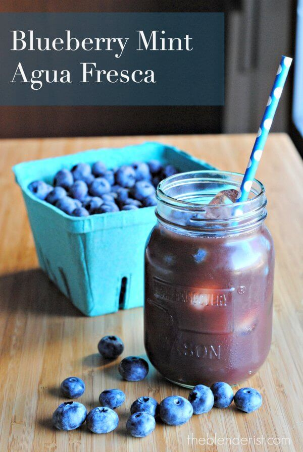 Blueberry Mint Agua Fresca | Recipe | Travel, Low sugar and Juice