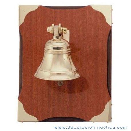 Latón campana barco campana 10 cm con pared latón-antiguo