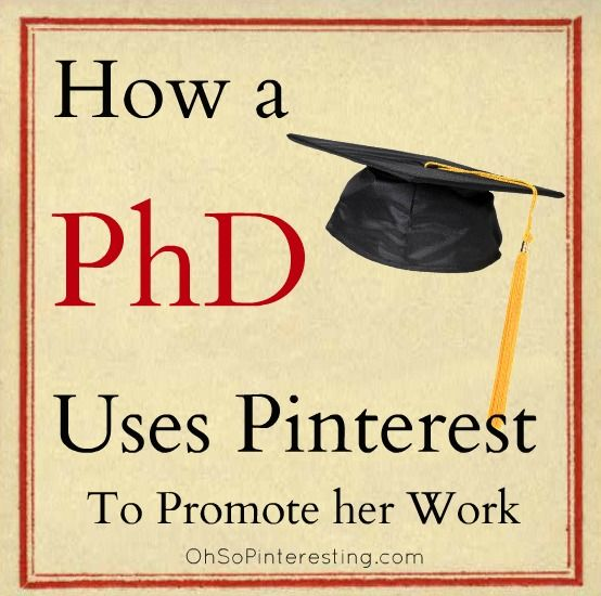 How a PhD Uses #Pinterest to Promote Her Work #BeatGirl @Oh So Pinteresting Cynthia