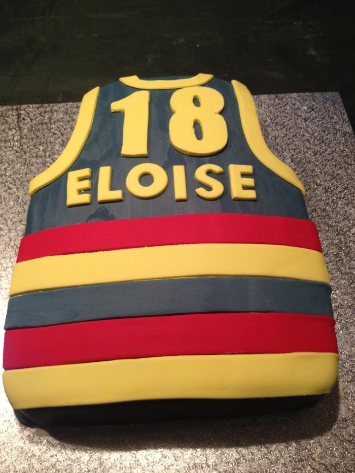 Adelaide Crows AFL Football guernsey. 18th Birthday cake.
