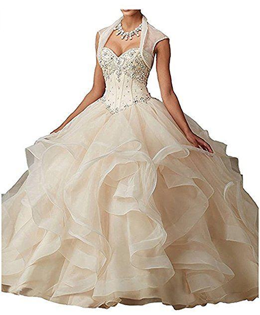 CLLA dress Damen Hochzeitskleid Rüschen Ballkleid Lange ...