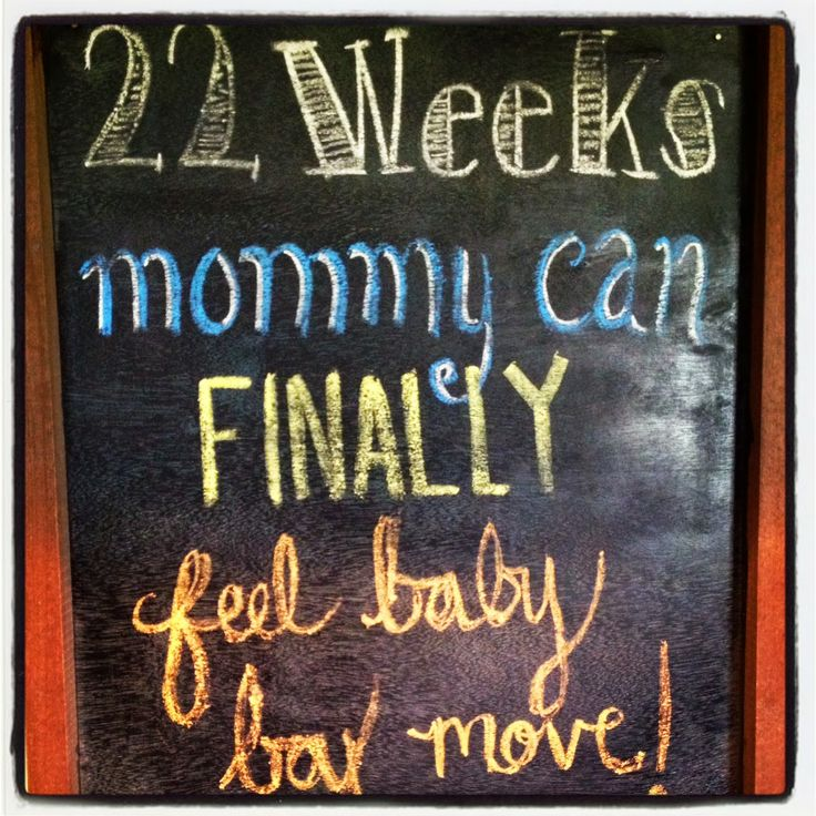 Happenings of a Housewife: 22 weeks pregnant chalkboard
