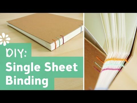 DIY Single Sheet Bookbinding Tutorial | Sea Lemon - YouTube