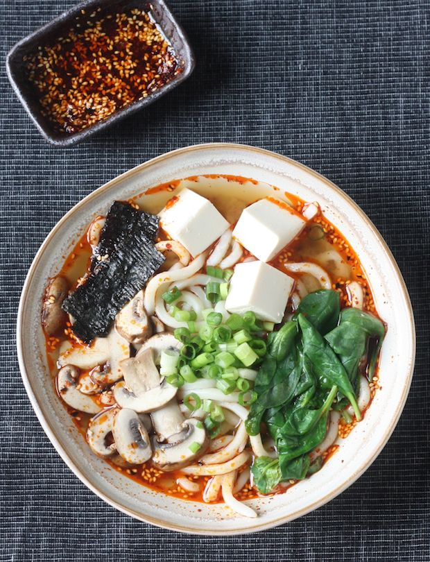 Season with Spice - an Asian Spice Shop: Miso Udon Noodle Soup with Spicy Korean Chili Dressing