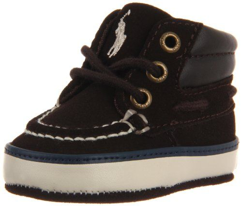 Ralph Lauren Layette Sander Mid Boot (Infant/Toddler),Chocolate Suede,2 M US Infant.