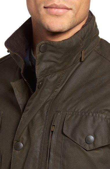 Main Image - Barbour 'Sapper' Regular Fit Waterproof Waxed Cotton Jacket