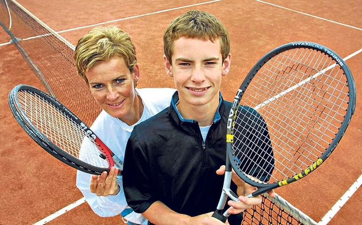 Judy Murray and Andy Murray aged 14