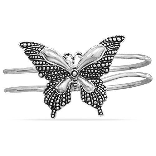 Oxidized Butterfly Hinged Fashion Bangle Bracelet Suzy B. Accessories http://www.amazon.com/dp/B013OMOZL0/ref=cm_sw_r_pi_dp_ZrC9vb1FKXDHE