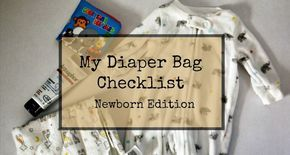 What to put in your diaper bag for a newborn.
