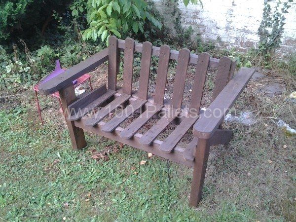 Pallet Bench in pallet furniture pallet outdoor project  with Pallets Outdoor Bench Banc