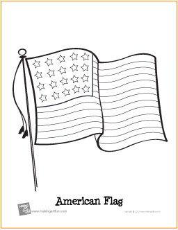 25 American Flag Coloring Page