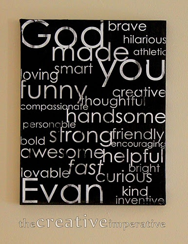 Great kids room wall hanging..........I love this!