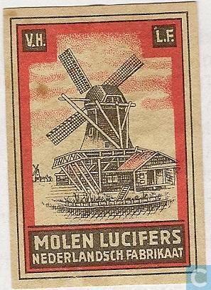 Dutch matchbox label