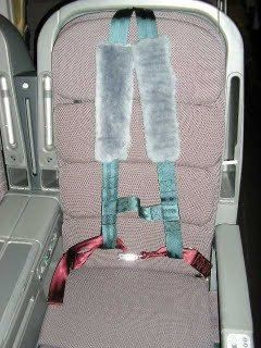 Airline seat with upper body support. Qantas airlines and Virgin Airlines