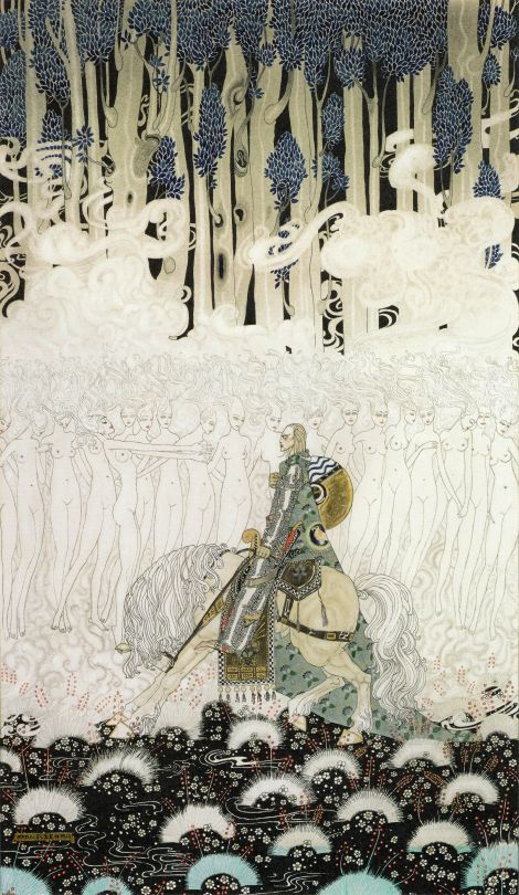The Blurst Of Times   Sir Olaf in a kingdom of wraiths and ghosts. Kay Nielsen (1896-1957) watercolor for In Powder and Crinoline, 1913.
