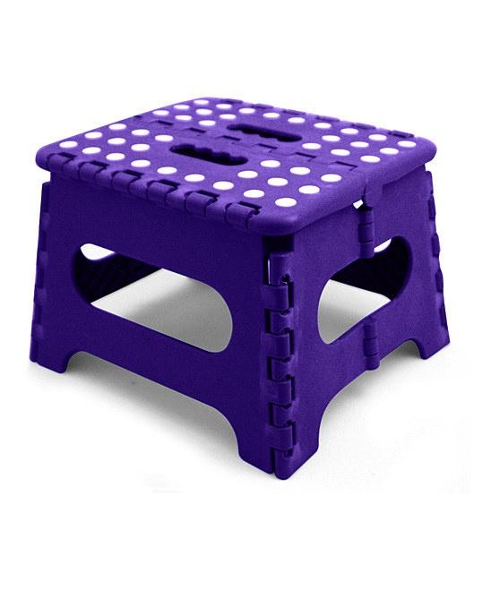 Home Basics Purple Folding Step Stool Stool Flatware