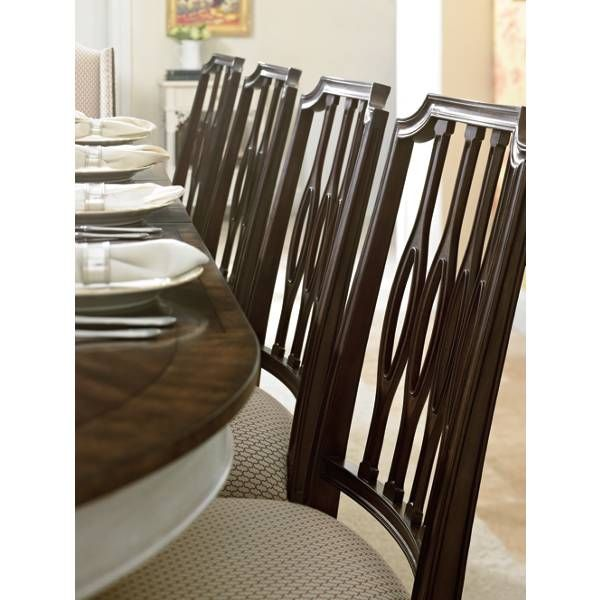 Lovely The Elliptical Silhouette Of The Cooper Dining Side Chairu0027s Pierced Back  Splat Is At Home In Transitional And Traditional Environs Alike.