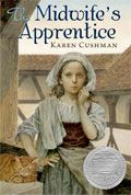 Midwife's Apprentice. Just bought this book again never realized how short it was. *Karen Cushman 1*