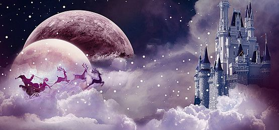 Poster Banner Dream Castle trời giáng sinh.