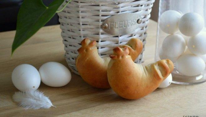 Broodhaantjes voor (Palm)Pasen bakken