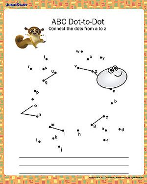 Ambitious image in abc dot to dot printable