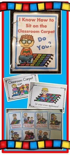 Classroom Carpet/Rug Rules Posters, Books, and Emergent Reader-Perfect for the first week of school