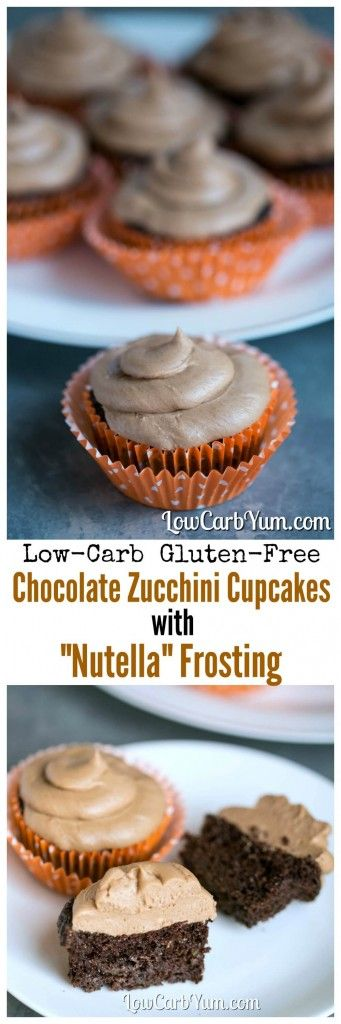 Deliciously moist low carb gluten free chocolate cupcakes with a sugar free Nutella frosting. A perfect LCHF Keto THM Atkins dessert