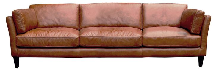 Schots Nordic Vintage 4 Seater Genuine Leather Sofa Lounge - Sienna Brown in    eBay!