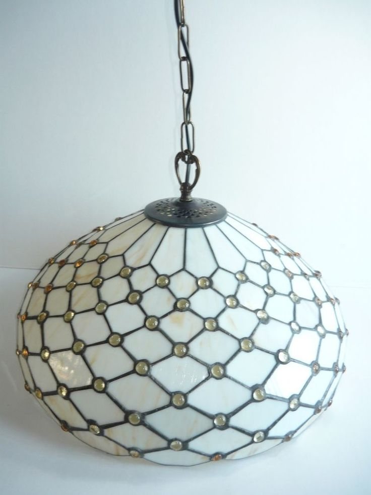 Lampadario da soggiorno cucina in vetro Tiffany diam.cm 3O BELLISSIMO