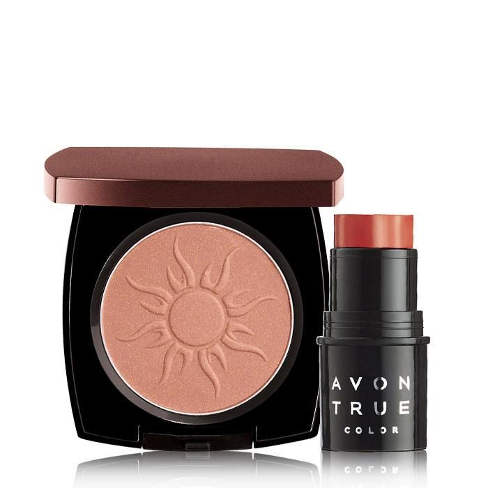 Valued at over $22.00, the set includes: Avon True Color Bronzing Powder in Warm GlowBelievable bronze, Avon True Color Bronzing Powder... Silky, luminous bronzer blends easily for a streak-free, radiant look. BENEFITS• Makes skin appear bronzed, even after tan fades• Provides an instant shimmery glow• Illuminates skin• Provides an even-looking complexion• Blends easily• Shimmery glow finish• Light to medium coverage• .37 oz net wtTO USE• Us