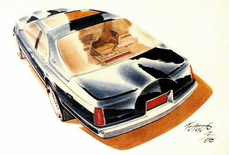 #Lincoln Continental Mark VII rendering by designer Jeff Teague #TBT