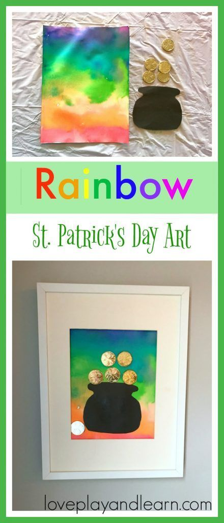 Beautiful Rainbow Craft that would make a great St. Patrick's Day Craft Art Activity for Kids. Great for Toddlers and Preschoolers.