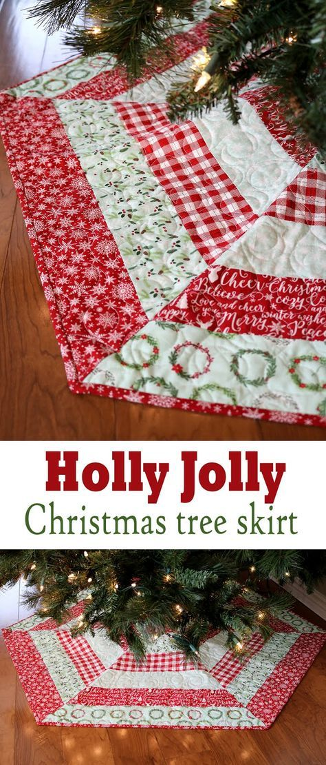 Holly Jolly Christmas Tree Skirt and Sale Pinterest Tree skirts