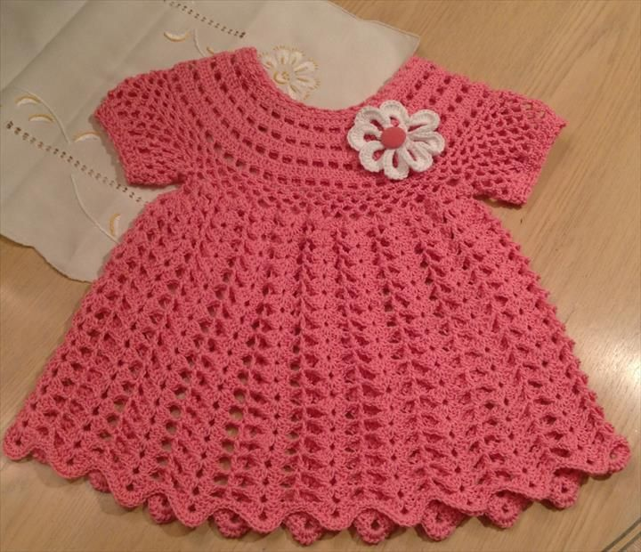 How To Crochet Baby Dress Pattern : 17 best ideas about Crochet Baby Dresses on Pinterest ...