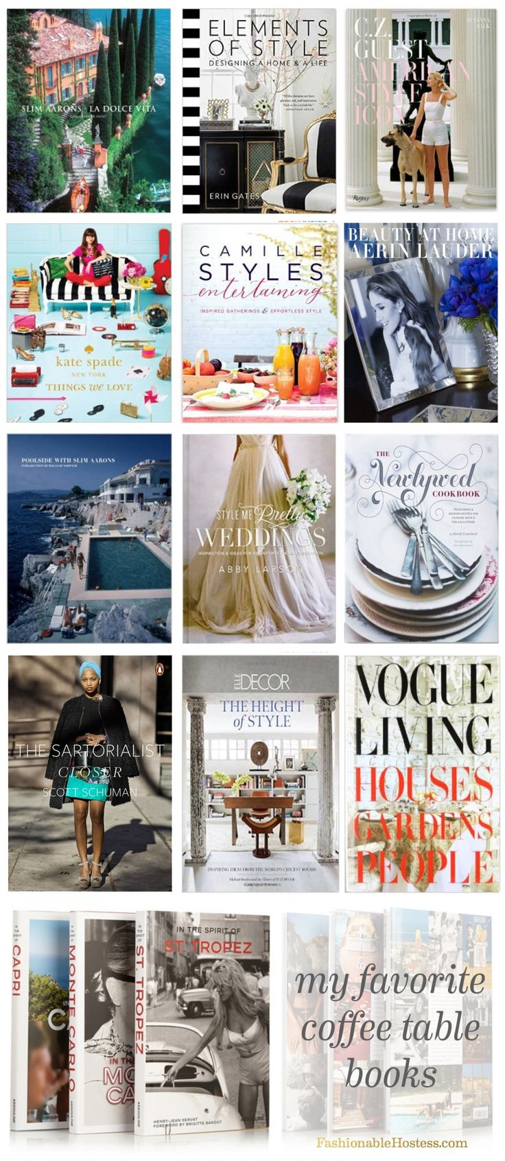 The Most Fashionable Coffee Table Books   Fashionable Hostess | Fashionable  Hostess