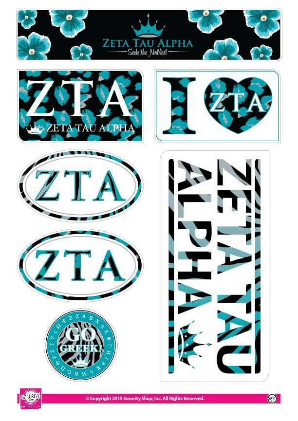 Mejores 8 imágenes de Zeta Tau Alpha Decals en Pinterest ...