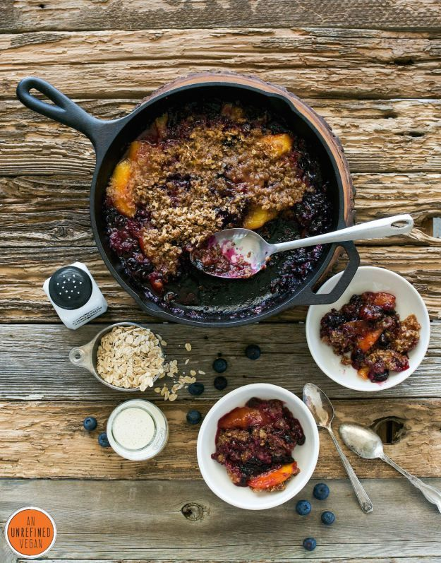 Annie shares the recipe for the Peach Blueberry Crumble from Cook the Pantry!  via @anolive