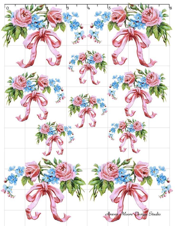 De-Ro-141 Rose Shabby Chic Decals - $10.99 : Arwen Moore Design ...