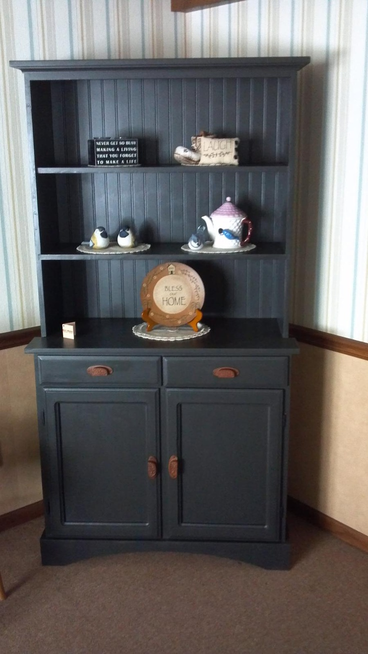 hutch painted in annie sloan country grey fawn or putty color country
