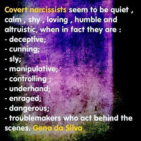 Covert Narcissists by Gena da Silva (@global_transformations) on
