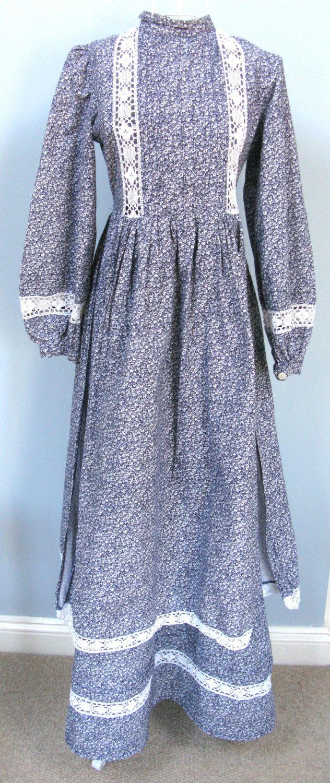 Laura Ashley Dress - Prairie Dress - UK 14 - US 12 - Retro Dresses - Festival Clothing - 1970s Fashion - Festival Dress - Amish Dress by MissieMooVintageRoom on Etsy