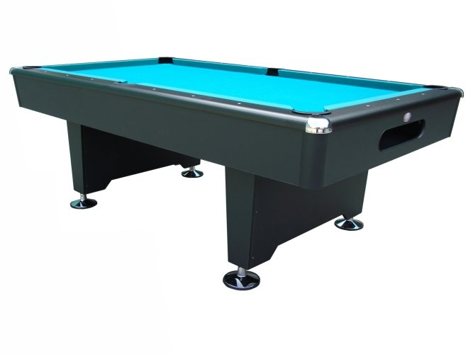 Black Knight   8 Ft Slate Pool Table With Drop Pocket