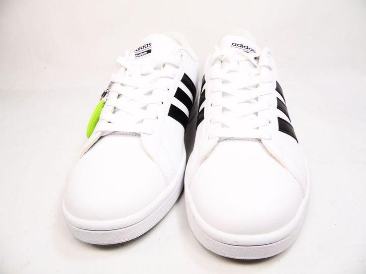 adidas NEO Cloudfoam Advantage Stripe Court Shoe White Size `10 #Adidas #AthleticSneakers