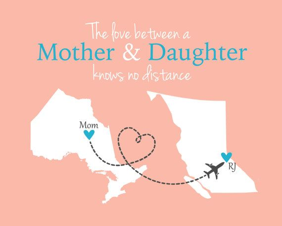 Gift For Mom Mother 39 S Day Grandma Long Distance Map