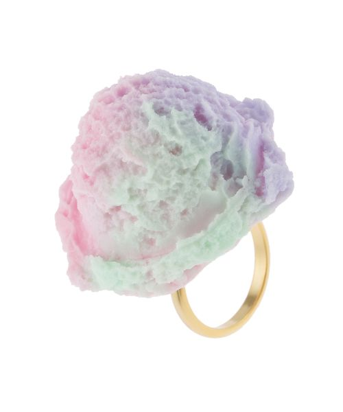 Cotton Candy Ice Cream Ring - Q-pot. INTERNATIONAL ONLINE SHOP