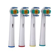 Novo 4 pçs/set EB-18A Rotary cabeça escova de Higiene Oral B escova de Dentes Elétrica Cabeças de Substituição para Braun Oral Cerdas Macias cabeças de escova de Dente alishoppbrasil