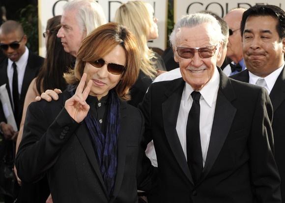 """""""O lendário Stan Lee e o músico Yoshiki"""" de sapocinema no SAPO Fotos"""