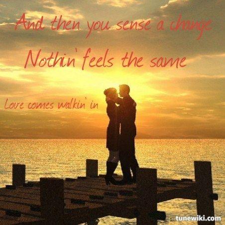 Lyric Art of Love Walks In by Van Halen
