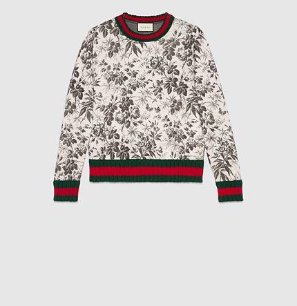 Gucci - felpa in jersey con stampa herbarium 419141X59681168