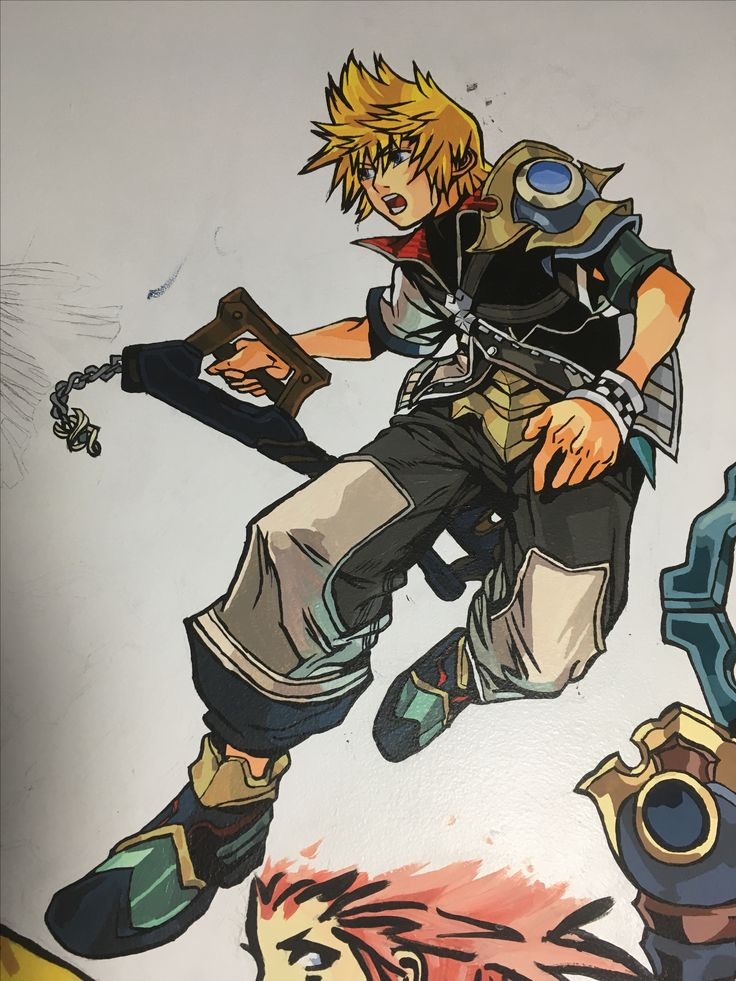 Kingdom Hearts Mural. That's Ventus finished. On to Aqua.